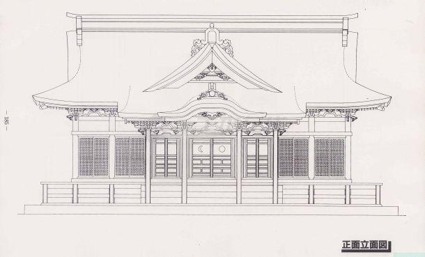 日本社 寺建筑图纸-图一