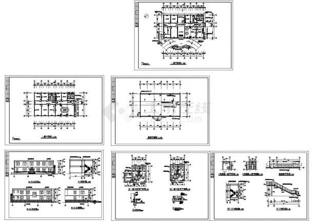 【成都】某饲料有限公司办公楼建筑施工CAD全套图纸-图一