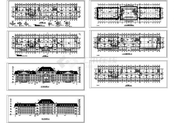 多层办公楼建施工图7张-图一