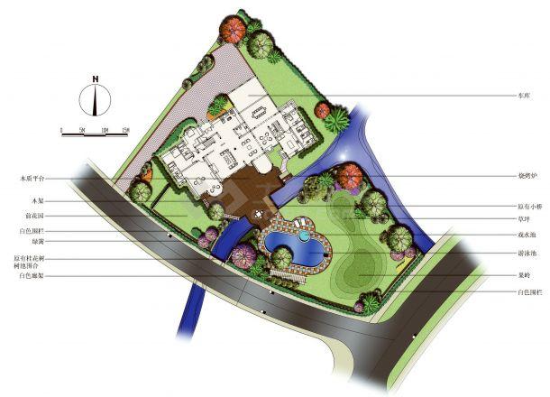 上海西郊庄园别墅景观设计效果图jpg-图二