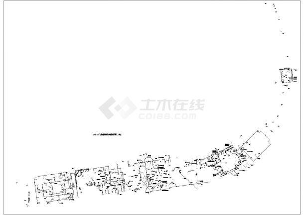 某成都利通华阳住宅小区景观CAD施工河滨平面详图-图一