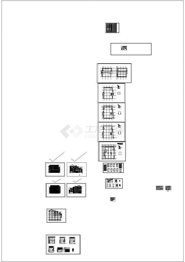 某商业广场四层沿街商业建筑施工图CAD(5号楼)-图一