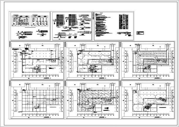 某车库电气CAD平面设计图-图二