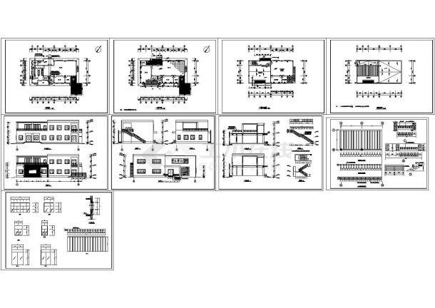 某山庄建筑施工图 cad图纸-图二