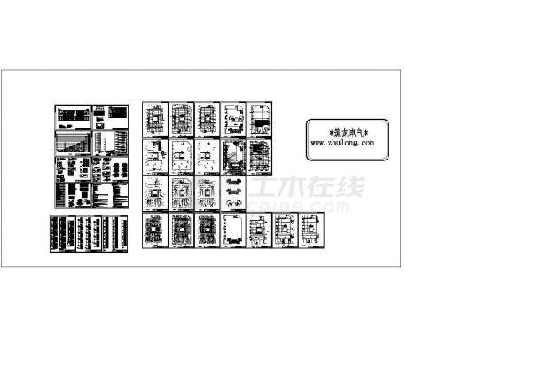 某地区大型商业综合楼全套电气施工图纸 ,含设计说明-图一