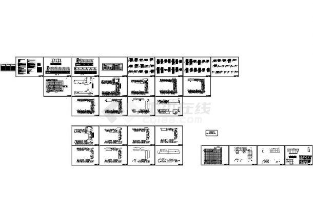人民医院强电设计图纸CAD-图二