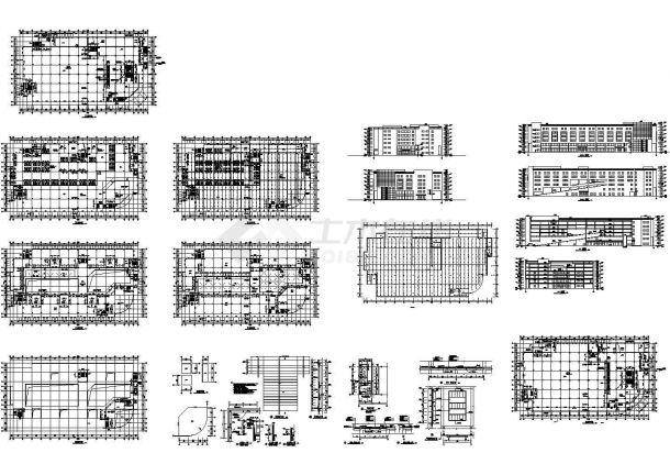 某地区多层商业大厦建筑施工图,13张图纸-图一