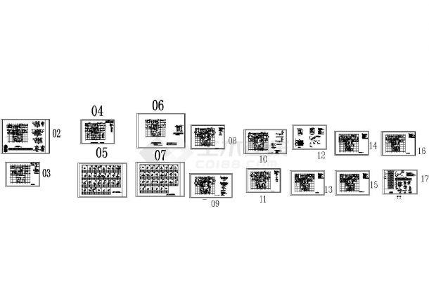 30层剪力墙结构住宅楼结构施工图CAD,17张图纸。-图二