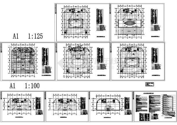 试验用房火灾自动报警CAD平面图纸-图一