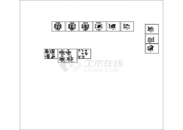 淮安3层住宅楼建筑设计施工cad图纸,共十二张-图二