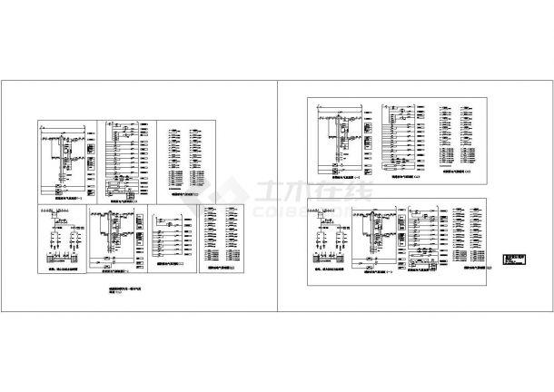 某消防喷淋泵启动二次原理设计施工方案完整CAD图纸-图一