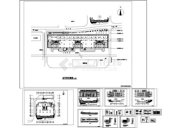 江南地区某花园商业街建筑施工CAD全套图纸-图一
