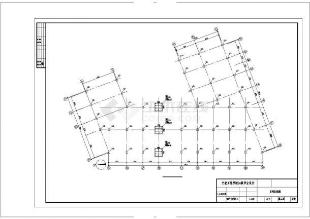 大庆市某大型五金厂钢结构厂房全套结构设计CAD图纸-图一