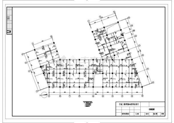 大庆市某大型五金厂钢结构厂房全套结构设计CAD图纸-图二