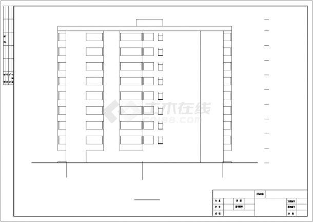 宣城市某社区3060平米8层框架结构住宅楼建筑结构设计CAD图纸-图一
