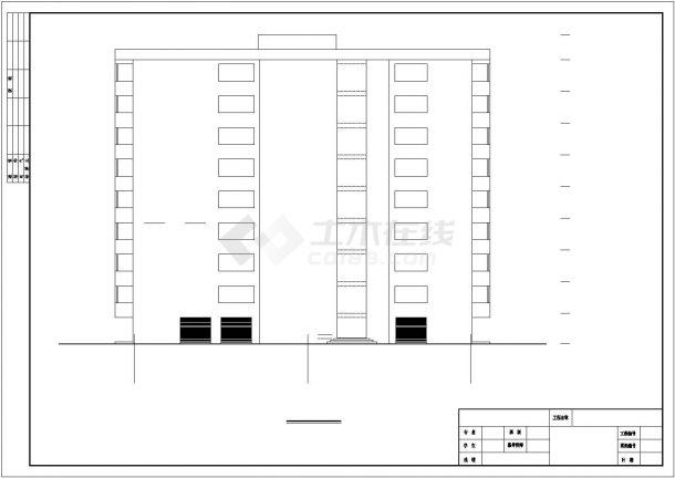 宣城市某社区3060平米8层框架结构住宅楼建筑结构设计CAD图纸-图二