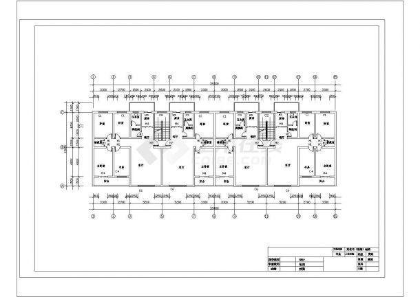 北京市某家属院6800平米6层框架结构住宅楼建筑结构设计CAD图纸-图一