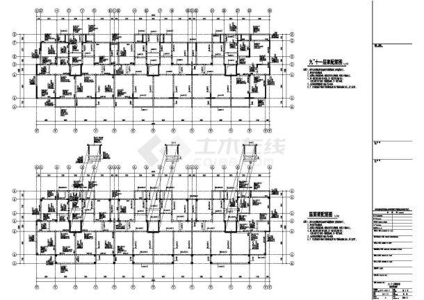 某地上11层剪力墙结构住宅楼设计cad全套结构施工图(含设计说明)-图二