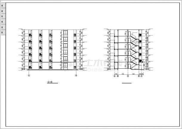 焦作市盛和花园小区3000平米6层框架结构住宅楼建筑设计CAD图纸-图一