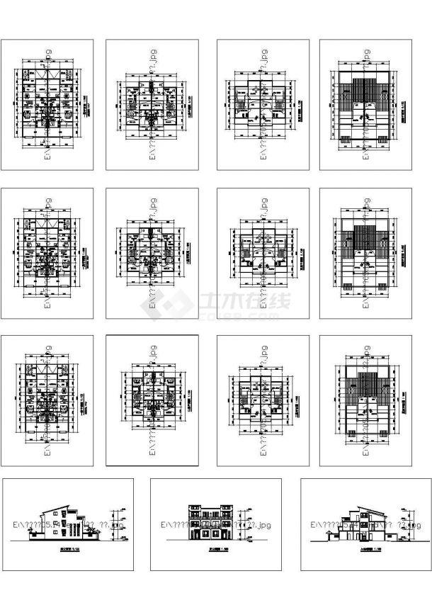 常州规划设计院建筑设计施工cad图纸,共十五张-图一
