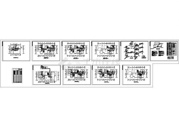 超豪华别墅全套空调设计CAD图-图一