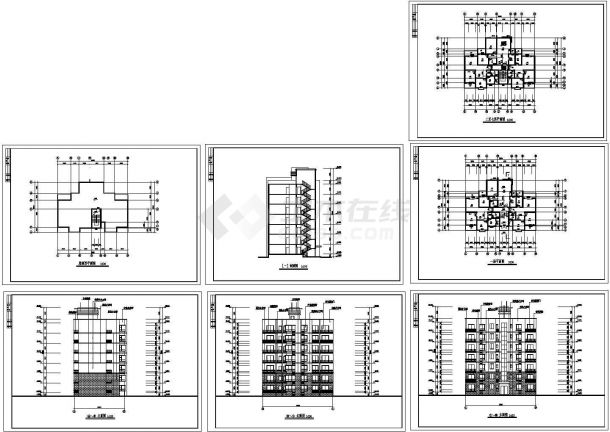 某地多层集资房住宅楼建筑设计施工图-图一