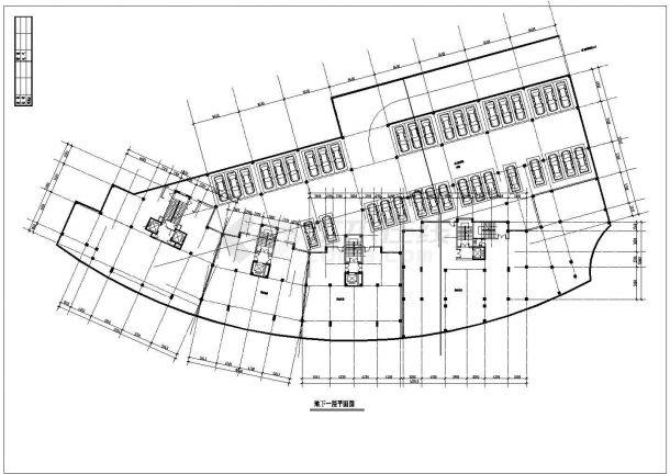 上海杨浦区某小区23层剪力墙结构公寓住宅楼CAD建筑设计图纸-图一