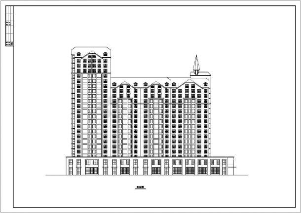 上海杨浦区某小区23层剪力墙结构公寓住宅楼CAD建筑设计图纸-图二