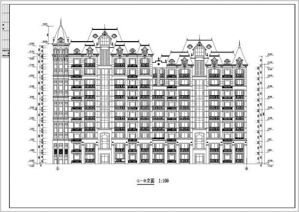 安康市柳园花苑小区11层框架结构住宅楼CAD建筑设计图纸-图二