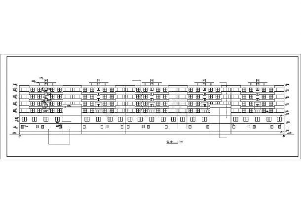 无锡某社区8100平米6层砖混结构商住楼CAD建筑设计图纸(1-2层商用)-图一