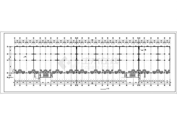 无锡某社区8100平米6层砖混结构商住楼CAD建筑设计图纸(1-2层商用)-图二