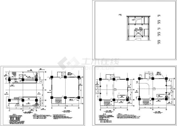 煤塔空调通风设计图纸-图一