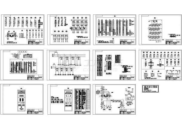 某小型直流屏完整原理示意设计工艺CAD图纸-图一