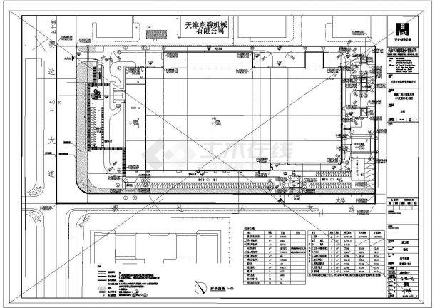 工厂建筑车间规划设计CAD平面图-图一
