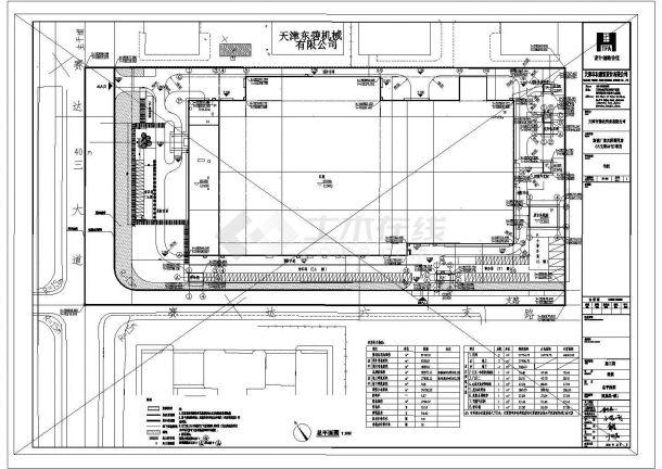 工厂建筑车间规划设计CAD平面图-图二