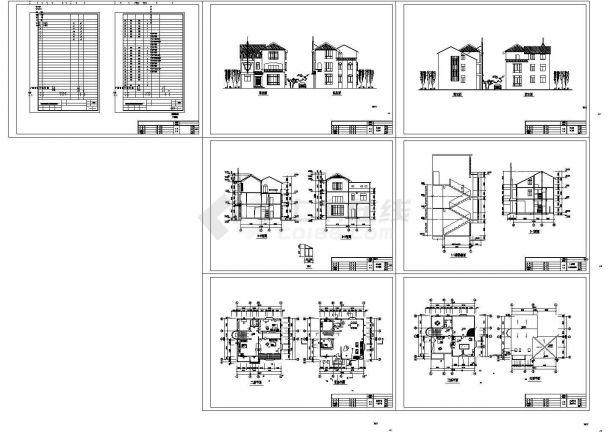 东北地区某私人住宅建筑施工CAD全套图纸-图一
