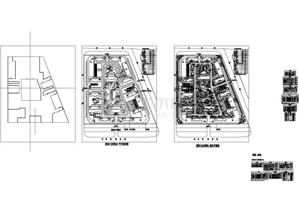 滨河小区园林景观绿化施工图CAD-图一