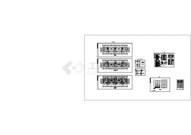 某七层老年公寓给排水施工图CAD-图一