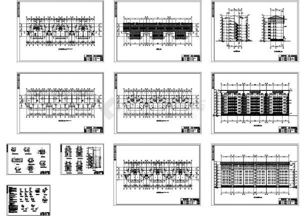 [南昌市]某七层砖混结构住宅建筑施工图CAD-图二