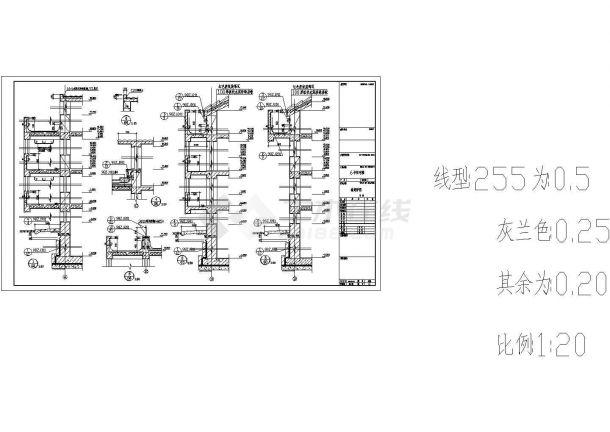 [湖南]某六层住宅楼建筑施工图CAD-图一