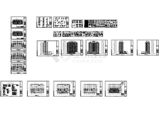 某十四层商住楼建筑施工图 CAD-图二