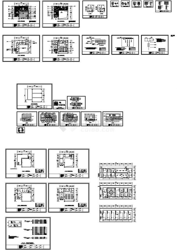 某营业厅CAD装修设计图-图一