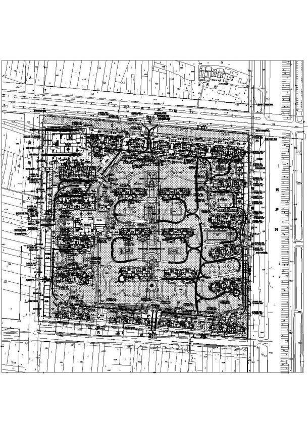 [淮安]某住宅小区室外管线设计cad详细布置图(甲级院设计)-图一