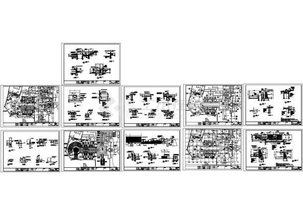 江苏别墅区园林景观工程施工图(含景观设计说明)-图一