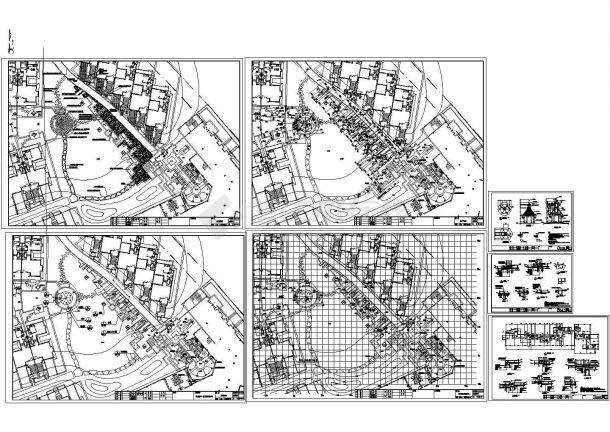 江苏别墅区园林景观工程施工图(含景观设计说明)-图二