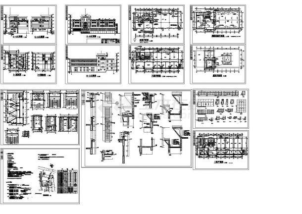 某市消防队多层办公指挥楼设计cad全套建筑施工图(含设计说明)-图二