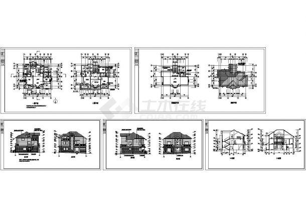 某3层农村私人豪华别墅设计cad全套建筑施工图纸(甲级院设计)-图一