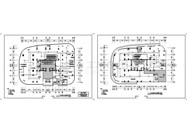 邮局消防自动报警CAD系统平面图-图一