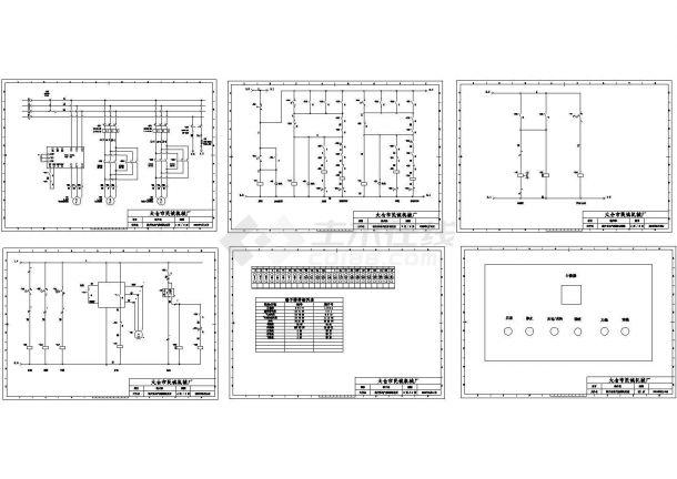 某机械厂裁片机设计cad全套电气控制原理图(甲级院设计)-图二