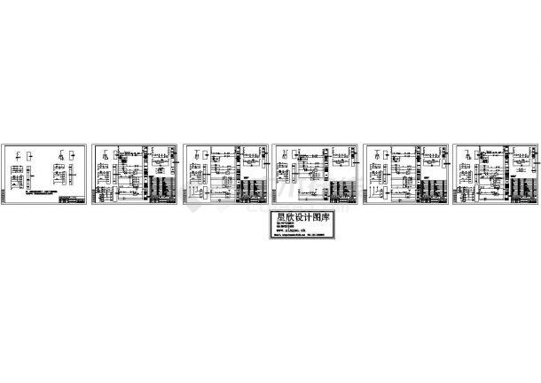 某标准型号变电所设备二次接线电气原理设计CAD图纸-图一